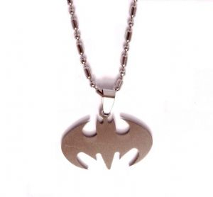 Batman Steel Chain Pendant Fashion Necklace Prop Replica